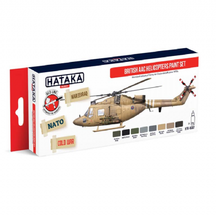Hataka British AAC Helicopters Paint Set (Acrylic)